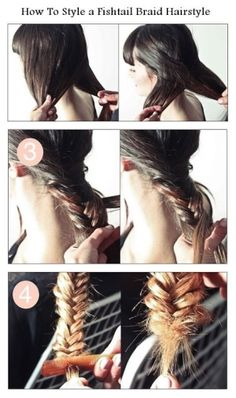 Styling A Fishtail - Hairstyles and Beauty Tips Fishtail Braid Hairstyles, Chignon Hair, Braided Hairstyles Tutorials, Diy Hairstyles, Pretty Hairstyles, Hairdos, Easy Hairstyle, Updos, Beauty Tutorials