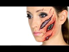 Макияж грим робота / киборга на Хэллоуин - YouTube