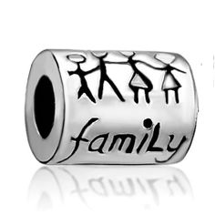 Pugster Family Charm Beads Fit Pandora Charm Bead Bracelet Pugster. $8.99. Unthreaded European story bracelet design. Hole size is approximately 4.8 to 5mm. Pugster are adding new designs all the time. Measures 9mm X 14mm. Fit Pandora, Biagi, and Chamilia Charm Bead Bracelets. Save 28%!