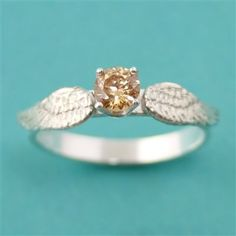 Harry Potter Golden Snitch Engagement Ring - Spiffing Jewelry.