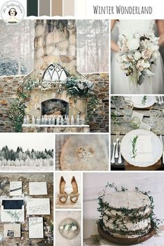 Winter Wonderland – Snow Dusted Winter Wedding Inspiration in a Palette of Neutrals