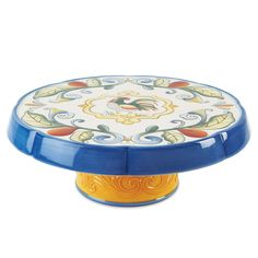 Fitz and Floyd Ricamo Round Cake Chip and Dip Tray & Reviews   Wayfair