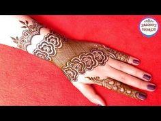 Latest Gulf Style Henna Mehndi Designs for Back Hand Simple Arabic Mehndi Designs, Mehndi Simple, Latest Mehndi Designs, Mehndi Images, Bridal Mehndi Designs, Step By Step Henna, Mehndi Video, Engagement Mehndi Designs, Henna Mehndi