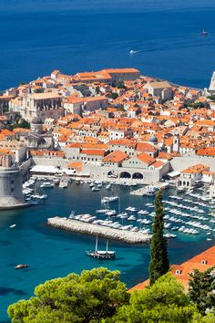 Dubrovnik Old Town from above. Dubrovnik is a must add to your Croatia itinerary.