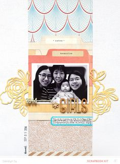 #papercraft #scrapbook #layout. Girls *Main Kit Only* by qingmei at @studio_calico