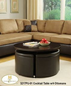 coffee table ottoman with seating