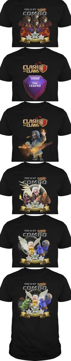 All t-shirt about clash of clans.