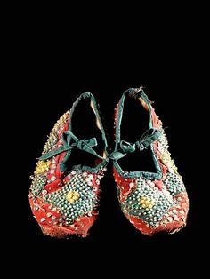 Africa   Egungun - Dance shoes - from the Yoruba people of Benin / Nigeria   ca. 1980