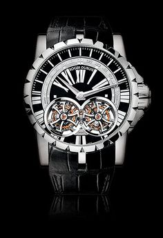 Roger Dubuis Excalibur Double Flying Tourbillon in Platinum.