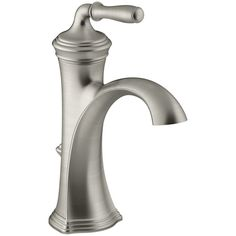 KOHLER Devonshire Vibrant Brushed Nickel 1-Handle Single Hole WaterSense Bathroom Faucet (Drain Included)