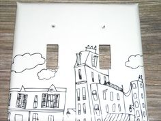 City drawing lightswitch cover
