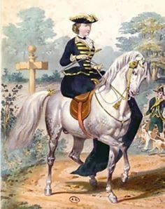 A dashing military-inspired riding habit. Popular, I believe, after Wellington won the Battle of Waterloo.