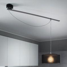 Lumina- Lumina Moove Pendant|Pendants| Darklight Design | Lighting Design & Supply Pendant Track Lighting, Kitchen Pendant Lighting, Dim Lighting, Ceiling Pendant, Pendant Lights, Living Room Light Fixtures, Modern Light Fixtures, Light Fittings, Contemporary Track Lighting