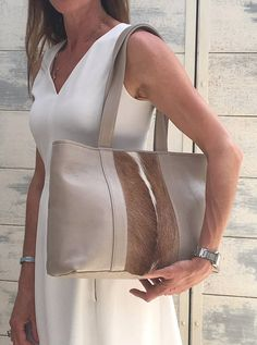 The Constantia  a compact leather tote or small shopper with