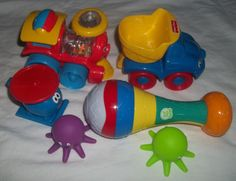 Fisher Price Train Dump Truck Leap Frog Maraca Little Tikes Helicopter Toy Lot | eBay