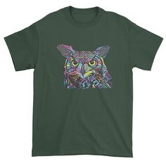 Beuatiful, full color bright owl design in Neon ColorsOfficial Dean Russo ArtworkDescriptionNeon OwlAll of our designs are printed in the U.S. on high quality garments, providing a super comfortable fit.Expression Tees has everything in stock and ready to ship. Most orders ship same day or the next day, and are delivered within 2-3 business days (on average). Most of our designs are available in Mens T-Shirts, Women's T-shirts, Kids T-shirts, Hoodies and Crewnecks... Be sure to search for… Owl T Shirt, Neon Colors, Dean Russo, Funny Tshirts, Blue And White, T Shirts For Women, Trending Outfits, Tees, Ship