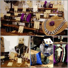 Sharon puts together some beautiful displays! We just love how she showcases our new jewelry pieces, can you tell that purple is her favorite color? Shop with us this sunny weekend & let us accessorize your outfit with these beauties! Happy Friday friends! #JFY #Beautiful #jewelry #accessories #jewels #shopping #weekend #Friday #outfit #gold #silver #shoplocal #Knoxville #unique