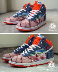 Nike Dunk High 'Child's Play 2′ Custom Sneaker By Diversitile