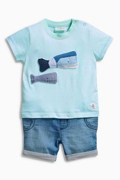 Buy Mint Whale Romper (0mths-2yrs) online today at Next: Hungary