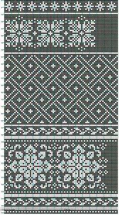 Knitting, crochet, or cross stitch pattern Knitting Charts, Knitting Stitches, Knitting Designs, Knitting Patterns, Crochet Patterns, Filet Crochet, Crochet Chart, Motif Fair Isle, Fair Isle Chart