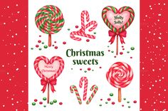 Christams sweets. Watercolor vector by chereshenka on Creative Market