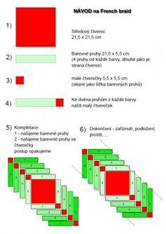 Patchwork = barevná geometrie - Fotoalbum - Návody - French braid - parkety