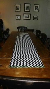 Easy to make chevron table runner - diy sewing project.
