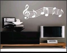 Music staff and notes wall decal sticker home decor