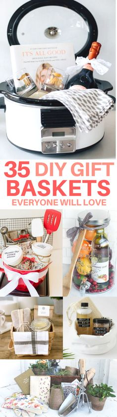 The BEST gift basket ideas you need to see! DIY gifts, housewarming present, hostess gift, bridal shower gift, diy gift ideas