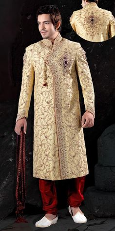 Indian #Groom Maharaja Angrakha Style #Sherwani http://www.anugiftcenter.com/groomadornments.html