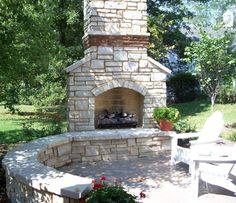 Bright Mann Contracting, Inc.   Custom Stone, Brick And Concrete   50. Outdoor  Wood Burning ...