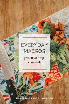 Everyday Macros is a macro-friendly meal prep cookbook. Healthy Diet Plans, Nutrition Plans, Health And Nutrition, Healthy Recipes, Macro Nutrition, Healthy Options, Nutrition Tips, Eat Healthy, Meal Plan Printable