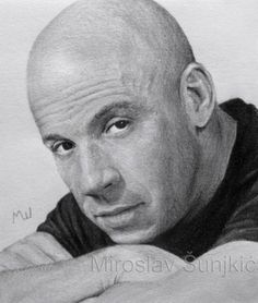 The Secrets Of Drawing Realistic Pencil Portraits - My pencil drawing of Vin Diesel - graphite pencil drawing by Miroslav Sunjkic Secrets Of Drawing Realistic Pencil Portraits - Discover The Secrets Of Drawing Realistic Pencil Portraits Cool Pencil Drawings, Realistic Drawings, Love Drawings, Pencil Art, Vin Diesel, Celebrity Drawings, Celebrity Portraits, Pencil Portrait, Portrait Art