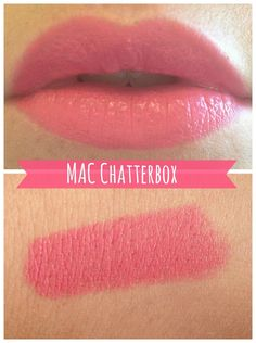 MAC, Chatterbox Oh hi there new favourite lipstick! This has been on my lust list for quite a while now but. Lipstick Guide, Best Mac Lipstick, Best Lipsticks, Summer Lipstick, Eye Candy Makeup, Mac Makeup, Love My Makeup, Gorgeous Makeup, Lipstick Shades