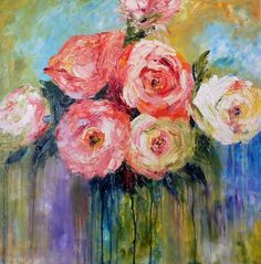 ARTFINDER: Moments In Time by Hester  Coetzee - Oil on good quality deep box canvas. Painted sides, signed, varnished and ready to hang. A beautiful heavy impasto piece of