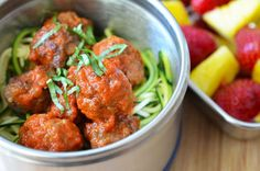 Zoodles and meatballs- Thermos, Ahoy! 15 Yummy Hot Lunch Ideas for Kids - ParentMap