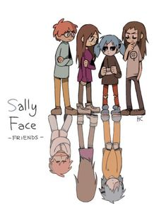 Memy i inne pierdoły z Sally Face # Humor # amreading # books # wattpad Little Misfortune, Sally Face Game, Rapper, Rpg Horror Games, Indie Games, Face Art, Larry, Art Reference, Grunge