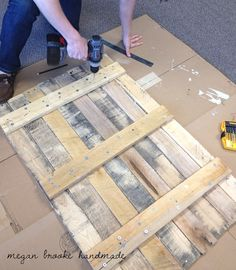 my next project! I'm going to use old pallets and old wood from the fence we just tore down!