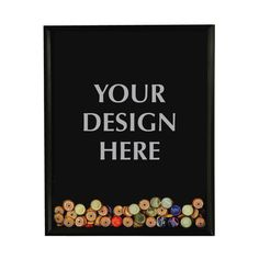 16 by 20 inch shadow box frame with opening in the top for bottle cap collection custom design on glass
