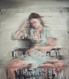 Index - Andy Denzler - www.andydenzler.com Girl With Chair, 2014, Oil on canvas, 80 x 70 cm