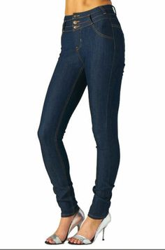 New High Waist Blue Sexy Skinny Jeans Stitch womens denim pants stretch slim FIT Trouser Pants, Denim Pants, Slim Waist, High Waist, Grunge Fashion, Trendy Fashion, Skinny Fit, Skinny Jeans, Trendy Jeans