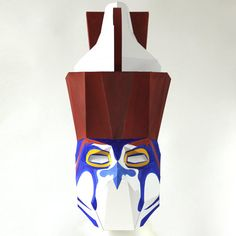 Egyptian God HORUS paper mask - Make it with this Low-Poly ...