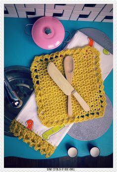 Jogo de Cozinha de Crochê: 63 Fotos, Gráficos e Passo a Passo
