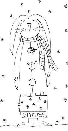 Free patterns - a wonderful site for those who love to stitch - embroidery Primitive Stitchery, Primitive Patterns, Primitive Crafts, Primitive Snowmen, Primitive Christmas, Country Christmas, Primitive Embroidery, Father Christmas, Wood Crafts