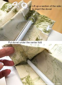 Relaxed roman Shade tutorial witha dowel