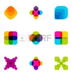 Los elementos de dise o de logotipo creado 40 Foto de archivo
