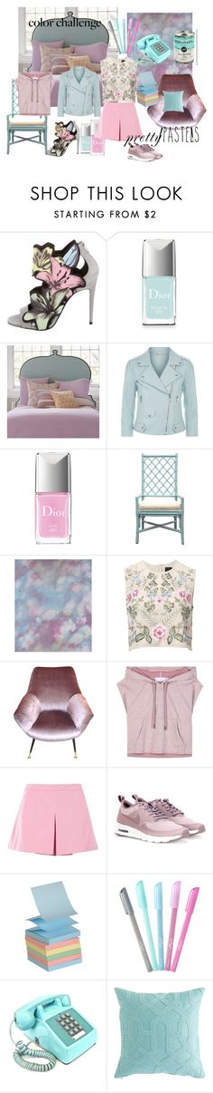 """from lilac to pale blue"" by lexiitaly ❤ liked on Polyvore featuring Pierre Hardy, Christian Dior, John Robshaw, Rebecca Minkoff, Selamat Designs, Liberty Art Fabrics, Needle & Thread, adidas, Love Moschino and NIKE"
