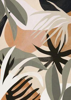 Abstract Art Jungle 3 Art Print