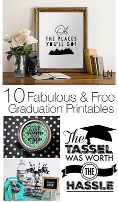With these 15 fabulous free graduation printables you can find some easy ideas to put together a great party or invitation on a budget!
