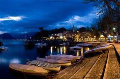 the port of Laveno Mombello by Massimo Pietro Antonio Zanderin
